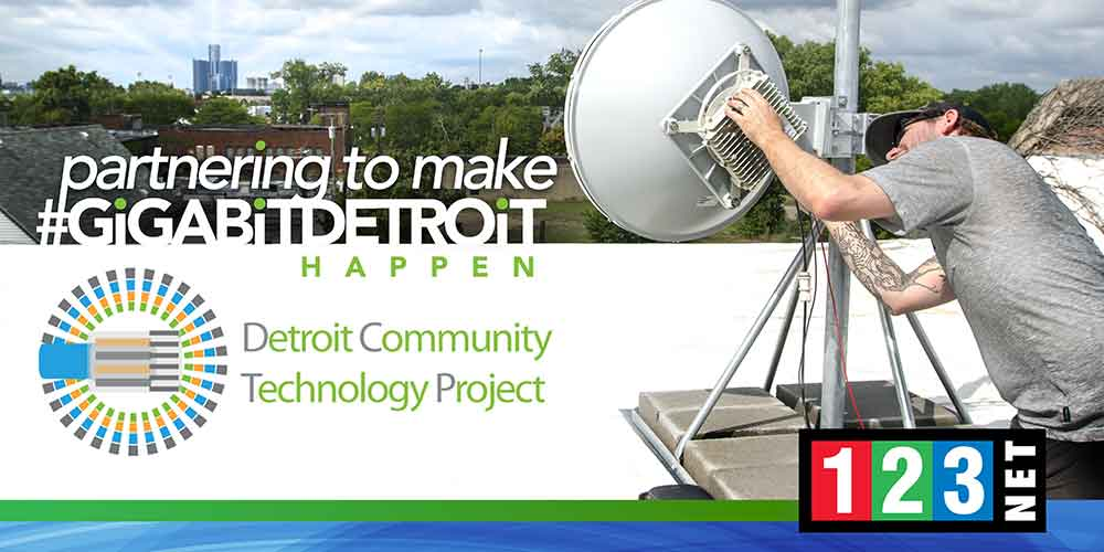 123Net and the Detroit Community Technology Project Partner to Bring Internet to Detroit's Neighborhoods