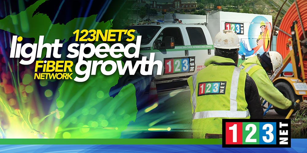 123Net's Fiber Network Growing at Light Speed in Michigan