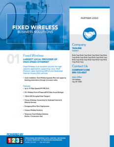 123Net Co-branded collateral - fixed wireless