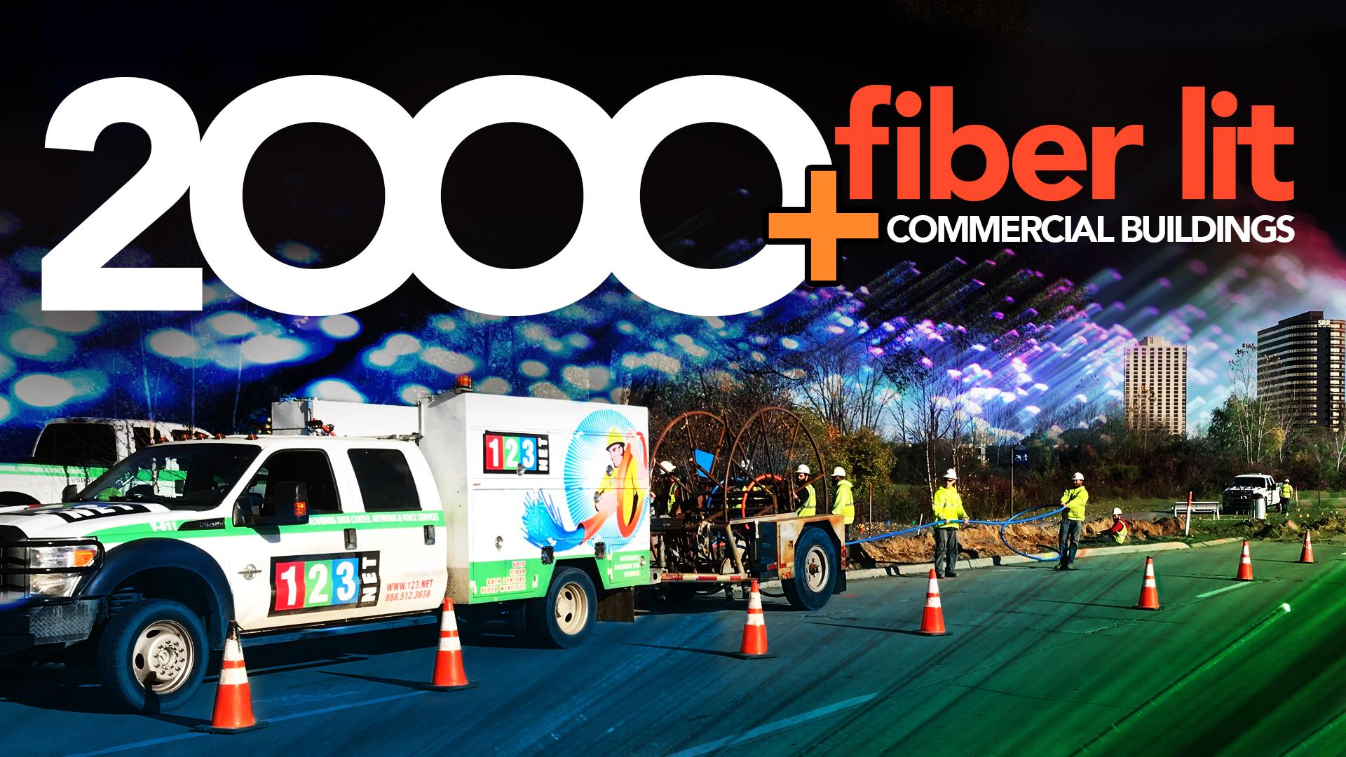 123NET Reaches the 2,000th Fiber Lit Commercial Building Milestone