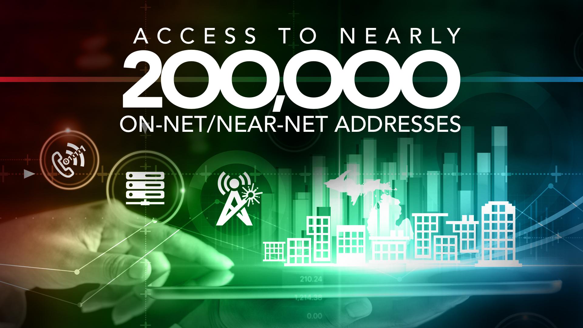 123NET On-Net/Near-Net List Grows Close to 200,000 Addresses