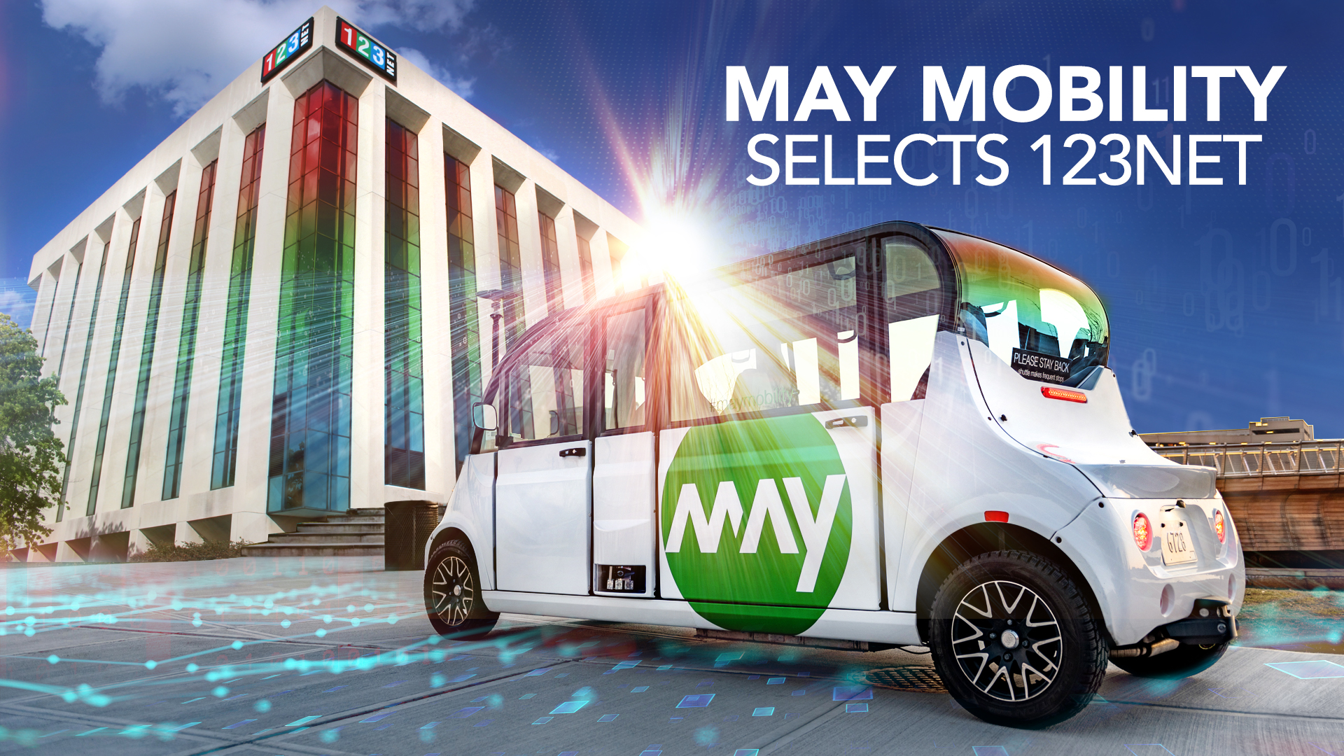 May Mobility Selects 123NET Data Center